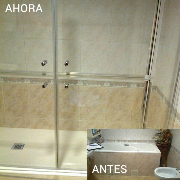 Cambio de bañera por ducha en Avilés